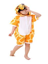 Kigurumi Pijamas Girafa Collant/Pijama Macacão Festival/Celebração Pijamas Animais Dia das Bruxas Laranja Listrado AlgodãoFantasias de