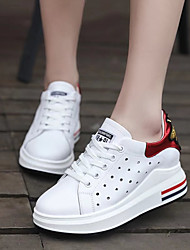 Women's Sneakers Spring Fall Breathe Freely Increased Within Comfort All Match Fashion Outdoor Athletic Wedge Heel Lace-up