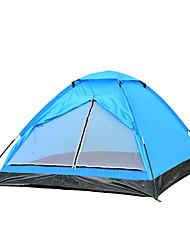2 Pessoas Tenda Único Tenda Dobrada Um Quarto Barraca de acampamento 1000-1500 mm Fibra de Vidro OxfordÁ Prova de Humidade Prova de Água