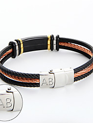 Manufacturer wholesale stainless steel orange Wire Bracelet Fashion bar group custom lettering Bracelet