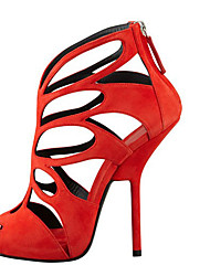 Women's Sandals Spring Summer Gladiator cutout Leatherette Party & Evening Platform high heels Zipper Red Purple
