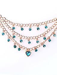 Women's Pendant Necklaces Crystal Chrome Unique Design Euramerican Fashion Personalized Dark Green Light Green Light Blue Dark Blue