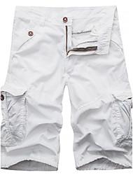 Homme Vintage simple Taille Normale Micro-élastique Short Pantalon,Ample Couleur Pleine