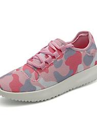 Da donna-Sneakers-Tempo libero Casual Sportivo-Comoda Suole leggere pattini delle coppie-Piatto-Tulle-