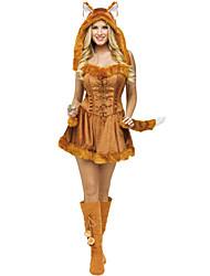 Costumes de Cosplay Animal Fête / Célébration Déguisement d'Halloween Autres Robe Chapeau Halloween Féminin Spandex Térylène