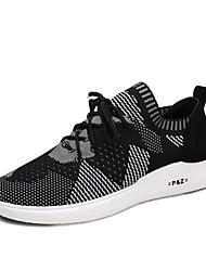 Feminino-Tênis-Solados com Luzes par sapatos-Rasteiro-Laranja Verde Branco/Preto-Tule-Ar-Livre Casual Para Esporte
