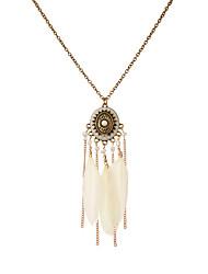 Femme Pendentif de collier Bijoux Ailes / Plume Plume Original Pendant Fait à la main Sculpté Elegant Bohême Le style mignon Bijoux Pour