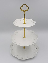 1Pcs 3 Tier Cake Plate Stand(Plate Not Include) Handle Crown Fitting Metal Wedding Party Silver/Golden