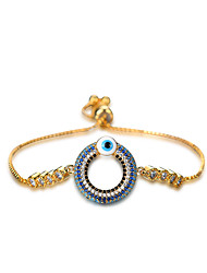 Women's Charm Bracelet AAA Cubic Zirconia Natural Friendship Movie Jewelry Bohemian Punk Rock Zircon Copper Circle Jewelry ForWedding