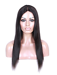 Natural Remy Straight Lace Front Wig Natural Black Color Lace Wig with Baby Hair For Black Women