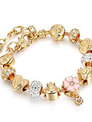 Mulheres Pulseiras Strand Amizade Elástico Bricolage Jóias filme Jóias de Luxo Moda Chapeado Dourado LigaFormato Circular Forma Redonda