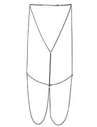 Lureme Women Harness Silver Tone Body Chain Jewelry Bikini Chain Crossover Belly Waist Chain