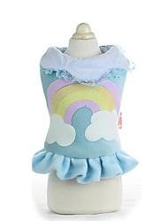 Chien Robe Vêtements pour Chien Bleu Rose
