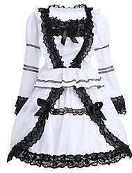Un Pezzo/Vestiti Lolita Classica e Tradizionale Lolita Cosplay Vestiti Lolita Di pizzo Manica lunga Corto Abito Per Cotone