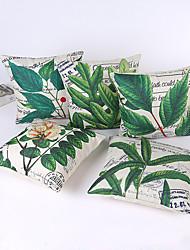 1 pcs  45*45cm  Green Leaves Pillow Case