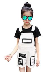 Girls' Geometic Print Sets,Cotton Summer Short Sleeve Clothing Set