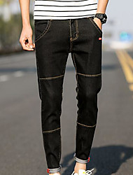 Men's Low Rise Inelastic Chinos Pants,Street chic Slim Solid