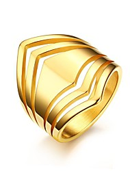 Women's Ring Vintage Elegant Titanium Steel 18K gold Ring Jewelry For Wedding Party Anniversary Daily