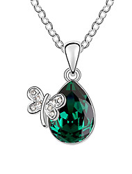 Women's Pendant Necklaces Jewelry Jewelry Crystal Alloy Euramerican Fashion Jewelry For Wedding Party Congratulations 1pc