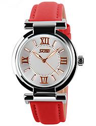 SKMEI I Ladies Quartz Watch Brand Dress Women's Leather Strap Women Watches Fashion Waterproof Wrist Watches