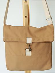 Women Shoulder Bag Canvas All Seasons Casual Shopper Kiss Lock khaki Yellow White Pool