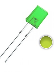 100 pcs 2x5x7 mm jaune-vert lumières diodes led