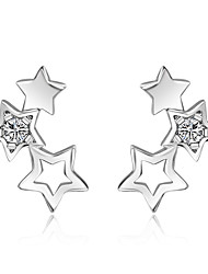 Women's Stud Earrings Rhinestone Fashion Simple Style Alloy Star Jewelry Casual 1 Pair