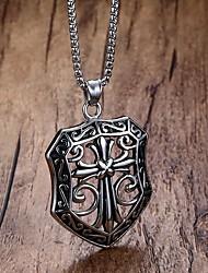 Men's Pendant Necklaces Statement Necklaces Stainless Steel Titanium Steel Euramerican Fashion Punk Hip-Hop Rock Casual Unqiue Jewelry
