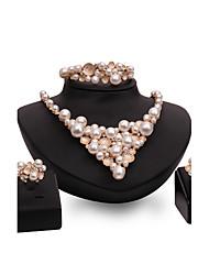 Set de Bijoux Perle imitée Strass Mode Vintage Personnalisé euroaméricains Bijoux de Luxe Bijoux FantaisieImitation de perle Strass