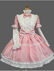 One-Piece/Dress Sweet Lolita Lace-up Princess Cosplay Lolita Dress Fashion Solid Color Cap Bell Short Sleeve Short / Mini Tuxedo Legguards