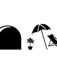 Wall Stickers Wall Decas Style Rat Hole Umbrella PVC Wall Stickers
