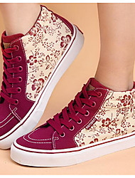Women's Sneakers Comfort Canvas Spring Casual Comfort Ruby Flat