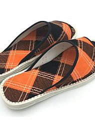 Men's Slippers & Flip-Flops Comfort Fabric Spring Casual Yellow Flat