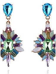Mujer Chica Pendientes cortos Pendientes colgantes CristalDiseño Básico Diseño Único Colgante Diamantes Sintéticos joyería película
