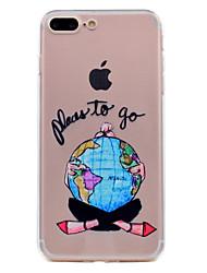 Назначение iPhone 8 iPhone 8 Plus Чехлы панели Прозрачный С узором Задняя крышка Кейс для Соблазнительная девушка Мягкий Термопластик для