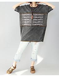 Tee-shirt Femme,Imprimé Autre Décontracté simple ½ Manches Col Arrondi Autre