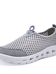 Running Shoes Men's Athletic Shoes Comfort PU Summer Outdoor  Comfort Flat Heel Dark Grey Light Grey Royal Blue Under 1in