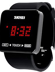 Women's Men's SKMEI Sports LED Touch Screen Electronic Silicone Jelly Watch