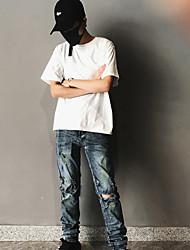 Damen Solide Sexy Alltag T-shirt,Rundhalsausschnitt Kurzarm Baumwolle