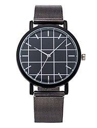 Cool Style Men Wristwatch Brief Vogue Simple Stylish Black and White Face Stainless Steel Quartz Clock Fashion Watch