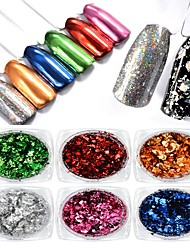 1PC Color Foil Powder The Fireworks Laser The Magic Mirror Powder 0.2g