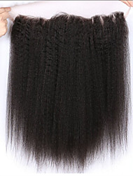 Brazilian kinky straight  Human 13x2 inch  Full Lace Frontal Closure Ear to Ear