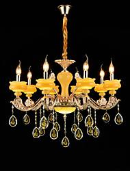 Lampe suspendue Alliage de Zinc Fonctionnalité for Cristal Style mini Métal Chambre à coucher Salle à manger Couloir 8 Ampoules