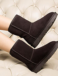 Women's Boots Comfort Suede Spring Casual Gray Black Flat