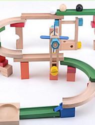 Blocos de Construir Pista de Corrida para presente Blocos de Construir Madeira 2 a 4 Anos 5 a 7 Anos 8 a 13 Anos Brinquedos