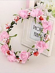 Fabric Headpiece-Wedding Special Occasion Outdoor Wreaths