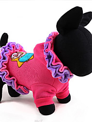 Собака Плащи пояс/Бабочка Одежда для собак Классика Очаровательный На каждый день Мода Носки детские Лиловый Розовый