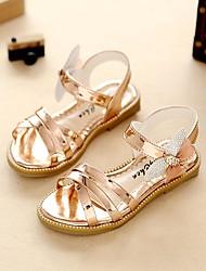 Girls' Sandals Comfort Flower Girl Shoes Light Soles  Summer Fall Outdoor Dress Casual Walking Rhinestone Flat HeelChampagne