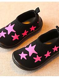 Girls' Flats First Walkers Fabric Spring Fall Casual Walking First Walkers Magic Tape Low Heel Blushing Pink Yellow White Flat