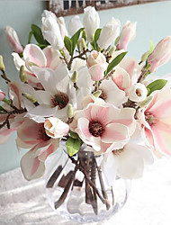 15inch 1 Branch Silk Magnolia Artificial Flowers